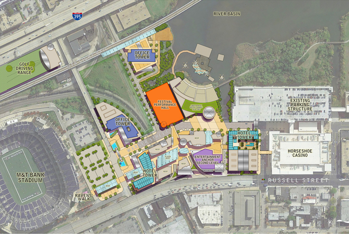 Stadium Walk Baltimore Design Architects Master Plan